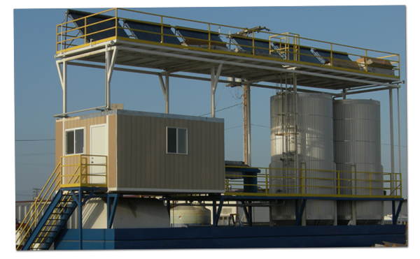 AN image of Biodico's patented modular biodiesel production facility in Ventura California.