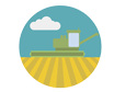 Icon of a farm that represents test plots for the staging of Feedstock tests.
