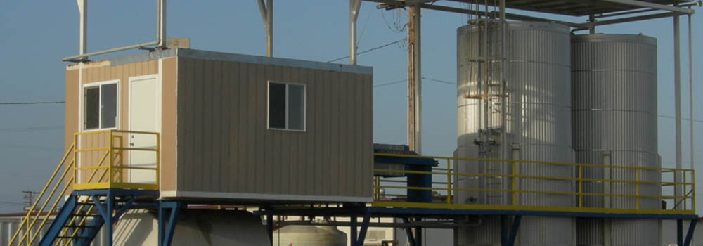 A look at Biodico's patented biodiesel modular production unit on-location in California.
