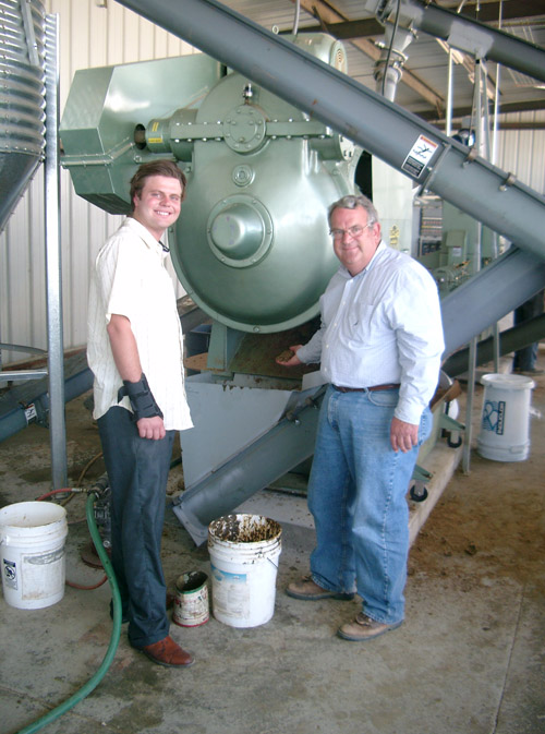 Biodico VP Trey Teall in the middle of Biofuel production with the use of Brassica Feedstock.